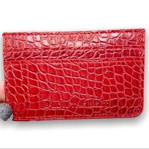 B-Low The Belt Red Croc Card Holder